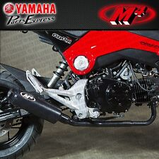 2014-2017 HONDA GROM 125 M4 BLACK LOW MOUNT FULL SYSTEM EXHAUST CERAMIC MUFFLER