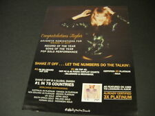 TAYLOR SWIFT Let The Numbers Do The Talkin' PROMO POSTER AD mint condition