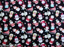 Fabric by the Yard - Kawaii from Hawaii - Snowman Collage