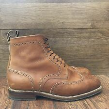 JM WESTON MAISON KITSUNE TRES RARE ANKLE BOOT BROGUE TAILLE 6E UK 7E US BROWN