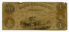 1858 $1 The Bank of Columbus, Georgia Note w/ Slave