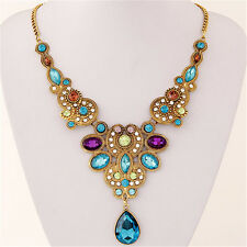 Bohemian Boho Teardrop Necklace Fashion Statement Jewelry Hippie Gypsy Chic