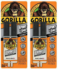 2x Gorilla 25ml Epoxy Glue - Strong Adhesive - Sets in 5 minutes - Dries Clear