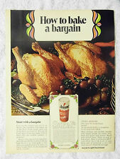 1970 Magazine Advertisement Page For Accent Food Flavoring Seasoning Turkey Ad