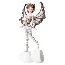 AMY BROWN Espresso Faery Fairy Figurine, Fairy with Expresso coffee cups
