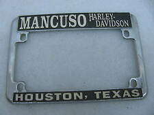 Mancuso Harley Davidson Houston Texas License Plate Mount Frame Knucklehead