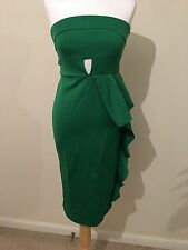 Womens Asos Green Party Occasion strapless dress size 10