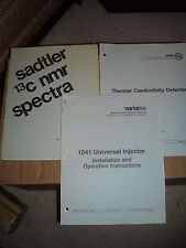 Sadtler 24 spectra compounds  varian 1041 universal injector manual like new
