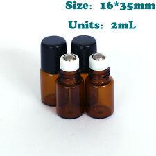 10 pcs 2ml Roll on Glass Bottle Essential Oil Perfume Metal Roller Ball Bottle