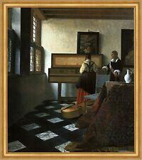 Herr und Dame am Virginal Vermeer Musik Cello Klavier Musiklehrer LW H A2 0289