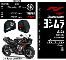 YAMAHA YZF-R1 STICKER DECALS SET WHITE 2013