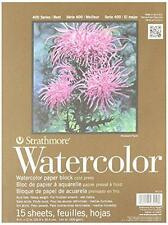Strathmore Cold Press 140-Pound 15-Sheet Watercolor Block Paper Pad, 9 x 12 Inch