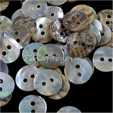 100X Mixed Mother of Pearl Round Shell Buttons Sewing Craft Dolls Beads 10MM DIY