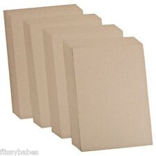10 x A4 Sheets Plain Kraft Card 280gsm 210mm x 297mm NEW