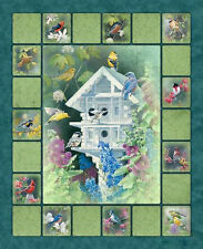 Wild Wings Heaven's Breath (Birds) Wall Hanging Cotton Quilting Panel