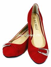 NEW Women Low Heel Ballet Flats Jewel Evening Stone Sparkling Round Toe Shoes
