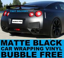 Matte Black Vinyl Wrap 152 x 90cm - Bubble Free Car & Bike Wrapping Film Foile
