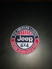 Jeep Embroidered Patch Sew Iron On Applique Motor Sports 4x4 New