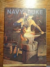 Football Program / NAVY-DUKE - November 7, 1953 at Baltimore Memorial Stadium