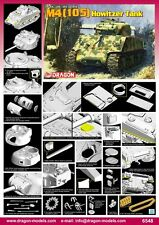 1/35 DRAGON M4(105) Sherman Howitzer Tank #6548