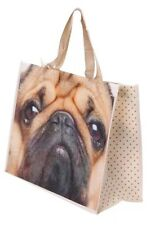 Pug Design Tote Shopper Shopping Grocery Bag For Life Dog Free Post BNWT
