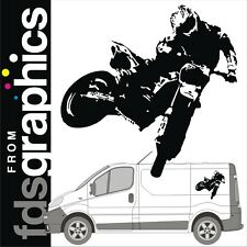 700mm X 720mm Freestyle Motocross van stickers/decals