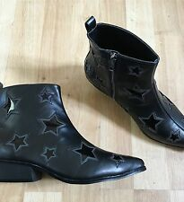 Gypsy warrior BNIB Star Print Holographic Mermaid Boho Cowboy Western Boots Asos