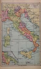 ITALY - Germany Poland Czechoslovakia Double Sided Antique Map c1932 Original