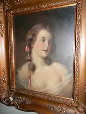 AMERICAN SCHOOL, 19th Century, Lovely, Portrait of a Young Lady