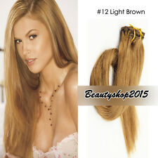 Best Selling Clip in 100% Human Hair Extensions 7Pcs/Set Full Head Black Blonde