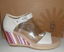 UGG Australia Atasha Cream Nubuck Wedge Sandals US 10/EU 41 New NIB