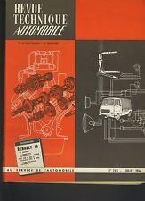 (C3B)REVUE TECHNIQUE AUTO RENAULT 10 / FIAT 500 et 500D/OVERDRIVE DE NORMANVILLE