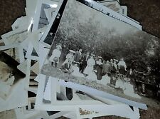 Vintage Black & White Photo Lot 100 Images Family Women Men Children Great Mix