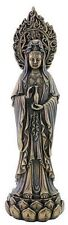 Kwan Yin Kuan Yin Quon Yin Avalokiteshvara on Lotus Statue with Holy Water #3125