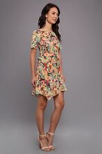 NWT Nanette Lepore 100% Silk Dress~Size 6~Made in NYC~Floral Pattern~Fully Lined