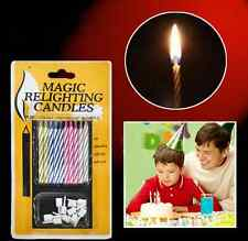 10x Magic Relighting Candles Tricky Toy Gift Eternal Birthday Blowing Candles CA