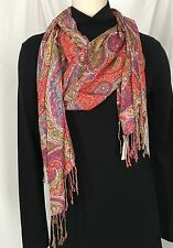 TALBOTS Women's Fashion  Scarf Multi Colored Paisley Pattern New With Tags