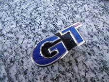 VW Polo 6R Emblem Zeichen Schriftzug Blue GT Kühlergrill blau schwarz glänzend