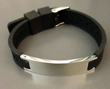 Magnetic Negative ION Health Energy Powerband (Silver Stainless Steel) Bracelet
