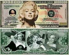 USA 'Marilyn Monroe' 1 Million Dollar Commemorative Banknote -UNCIRCULATED CRISP
