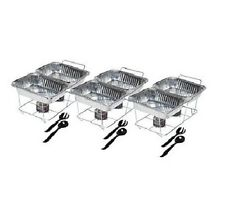 Complete Sterno Set Catering Serving Trays Food Chafer Portable Warmer 24 Pc New