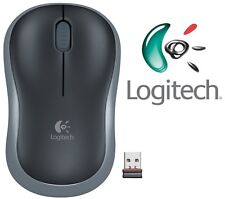 NUOVO LOGITECH M185 GRIGIO WIRELESS MOUSE OTTICO COMPATTO PER PC PORTATILE MAC LINUX