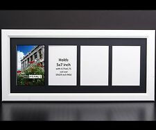 CreativePF 4 Opening Multi 5x7 White Picture Frame w/ 10x24 Black Collage Mat