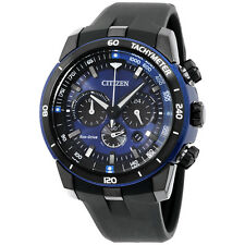 Citizen Eco Drive Blue Dial Silicone Strap Men's Watch CA4155 04L