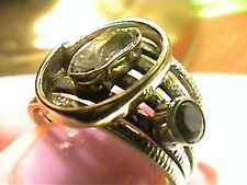 Herkimer diamond Silver RING 7.5 ESTATE NATURAL SILVER 925 health crystal rough