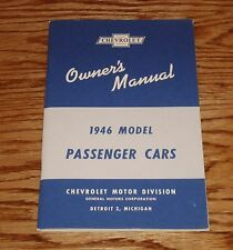 1946 Chevrolet Passenger Cars Owners Operators Manual 46 Chevy