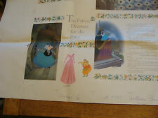 Vintage circa 1959 Print Sample Poster DISNEY SLEEPING BEAUTY BOOK 36X48,  #5