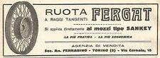 Y2980 Ruota a Raggi tangenti FERGAT - Pubblicità del 1923 - Old advertising