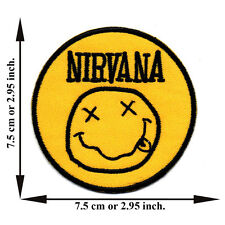 Yellow Nirvana Music Rock Band Song Smile Spirit Applique Iron on Patch Sew