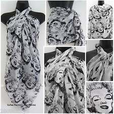 Marilyn Monroe Scarf Wrap Sarong Shawl Kaftan Beach Pool Cover-Up Celebrity